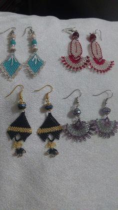 Esty, Diy And Crafts, Crochet Earrings, Drop Earrings, Projects, Jewelry, Fashion, Ear Rings, Crocheting
