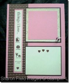 Things I love, convenient 8.5 x 11 scrapbook 2-page layout, 1 of 2