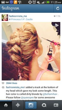 Love this inside out braid!
