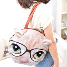 Cat/Dog Head Women Handbag Shoulder Bag