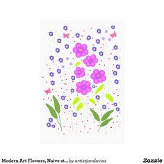 Modern Art Flowers