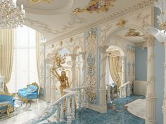 Богатство лепного декора этого интерьера завораживает.../ The richness of the stucco decoration of the interior is fascinating ...