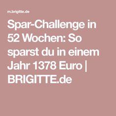 Spar-Challenge in 52 Wochen: So sparst du in einem Jahr 1378 Euro   BRIGITTE.de