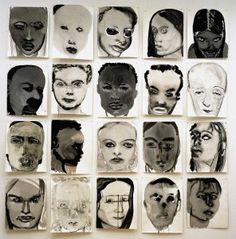 Marlene Dumas is a British artist. She draws and paints portraits of people. Instead of depicting exactly how they look like. She makes her work look psychological to be interpreted in many ways. Marlene Dumas, Kunst Online, Online Art, Art And Illustration, Inspiration Art, Art Inspo, L'art Du Portrait, Figurative Kunst, Creation Art