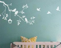 Items similar to Nursery Wall Decal Tree Branch White Wall Stickers Birds Baby Kids Room Girls Boys White Decals Wall Art Girl Boy Decor Removable Vinyl on Etsy – decorationroomgirl White Wall Stickers, Wall Stickers Birds, Kids Room Wall Stickers, Wood Nursery, Nursery Wall Decals, Nursery Furniture, Boy Decor, Wall Decor, Living Room White