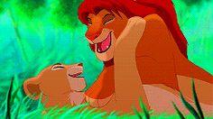 Nala kisses Simba (animated GIF)