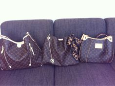 LOUIS VUITTON MONOGRAM DELIGHTFUL GM,  ARSTY GM AND GALLIERA GM