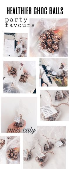 Easy 'Healthier' Choc Balls For Gifts or Party Favours – m i s s c a l y