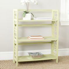 Natalie Avocado Green Bookcase at Layla Grayce #laylagrayce #furnishings