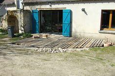terrasse en palettes recyclées