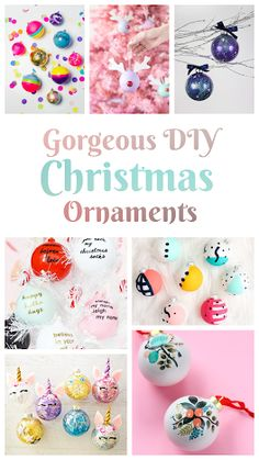 20+ Gorgeous DIY Christmas Tree Ornaments Holiday Activities, Holiday Crafts, Christmas Tree Ornaments, Christmas Diy, Diy Ornaments, Easter Eggs, Free Printables, Parents, Invitations
