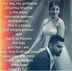 I totally agree this. She is reallya very sweet girl Anushka Sharma And Virat, Virat Kohli And Anushka, Bollywood Couples, Bollywood Wedding, Badminton Photos, Virat Kohli Quotes, Bollywood Actress, Actress Anushka, Cricket Quotes