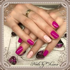 """Gelish """"carnival hangover """" with some marbling effect"""
