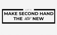 Celebrate Second Hand Shopping and make it the new norm, the new new! Sustainable Living, Reuse, Sustainability, Life Hacks, Let It Be, Tips, Shopping, Lifehacks, Sustainable Development