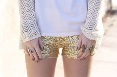 obsessed with soft sweaters paired with sequins.