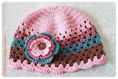 (4) Name: 'Crocheting : Granny Style Beanie