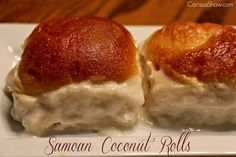 Samoan Coconut Rolls - Pani Popo - Mom Needs Chocolate Pani Popo, Samoan Food, Homemade Dinner Rolls, Island Food, Glass Baking Dish, Sweet Bread, Coffee Cake, I Love Food, Food Print