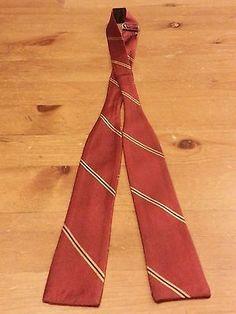 """""""The Original AdjustoTie"""", Silk, Burgundy/Gold/Black, Striped, BowTie (1-1/2"""")"""