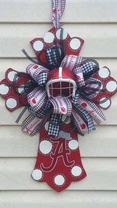 Check out this item in my Etsy shop https://www.etsy.com/listing/487359621/beautiful-alabama-crimson-tide-cross-22
