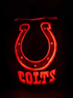 Indianapolis Colts Pumpkin