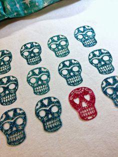 iLoveToCreate Blog: Glittered Sugar Skull Tee