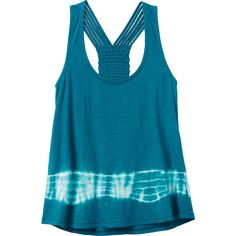 RVCA Women's Been There Tank Top ($45) ❤ liked on Polyvore featuring tops, jade blue, rvca, blue tank, scoopneck tank, jersey top and rvca tops