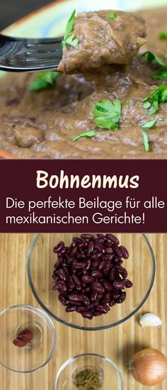 rotes Bohnenmus, unwiderstehlich als Beilage und Füllung red beans, irresistible as a garnish and filling for wraps and tortillas Appetizer Recipes, Salad Recipes, Healthy Recipes, Healthy Food, Mexican Chicken Recipes, Sandwiches, Vegetable Drinks, Grilled Pork, Red Beans