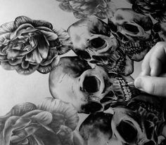 Skulls. Skulls have always been my favorite thing to draw and look at, though I only got a really small one on my arm, engulfed by bad artwork. Need something new, but I don't know what.