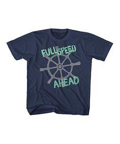 Navy 'Full Speed Ahead' Tee - Toddler & Kids
