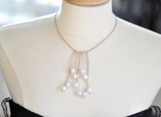 Check out this fresh DIY take on the pearl necklace.
