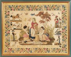 Esapgne ? A 19th Century Sampler Dated 1863 ~ From The Collection Of The Late Regine Deforges