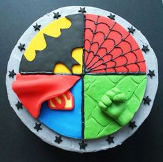 Inspiration Image of Superhero Birthday Cakes Superhero Birthday Cakes 11 Superhero Birthday Cakes For Boys 6 Photo Superhero Birthday Superhero Cake Toppers, Superhero Birthday Cake, Cake Birthday, Superhero Cake For Girls, Birthday Cakes For Boys, Superhero Party Food, Avengers Birthday, Marvel Cake, Thor Cake