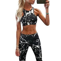 Kliou 2017 new Suit Women Tracksuit Set Ink painting Printed Fitness Set Sportswear Leggings Tight Jumpsuits Sportwear Clothing - TakoFashion - Women's Clothing & Fashion online shop Suits For Women, Fit Women, Clothes For Women, Yoga Sport, Sport Mode, Tracksuit Set, Women's Sports Bras, Sports Shoes, Bustiers