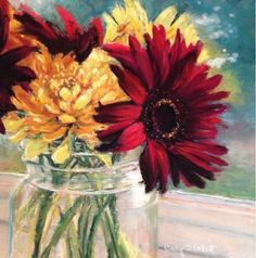 """Daily+Paintworks+-+""""Small+Bouquet""""+-+Original+Fine+Art+for+Sale+-+©+Cindy+Gillett"""
