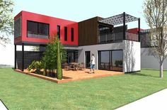 Plans To Design And Build A Container Home - Fast built affordable durable solution. - container home Who Else Wants Simple Step-By-Step Plans To Design And Build A Container Home From Scratch? Building A Container Home, Container Buildings, Storage Container Homes, Container Architecture, Container House Plans, Architecture Design, Container Houses, Cargo Container, Shipping Container Design