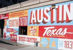 The famous 6th Street Mural in Austin is a must see whether you're here for SXSW or visiting for vacation. There are tons of murals to see, but this one has to be one of our favorites. Photo by @thevuvobandit.