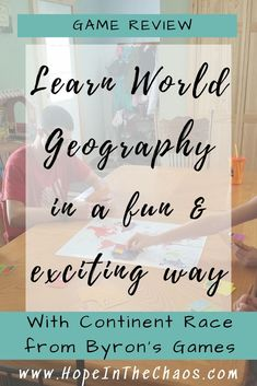 Learn Geography the Fun Way with Continent Race {A Review} - Hope In The Chaos