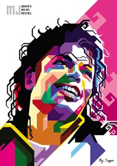 "Art with Soul - Colors - Michael Jackson ""The King of Pop"" - WPAP"