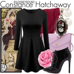 Constance Hatchaway by leslieakay on Polyvore featuring Alkemie, Accessorize, Forzieri, disney, disneybound and disneycharacter