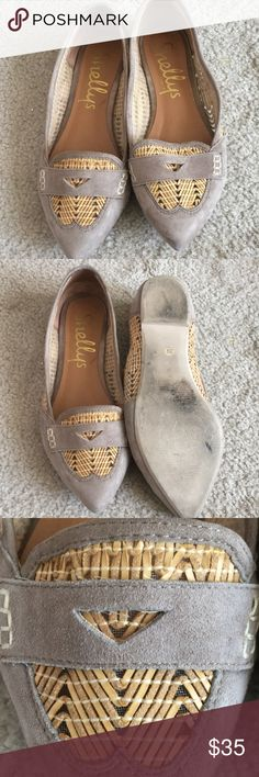 "Shelly's London ""Flats"" shoes Grey flats with great details to the shoe. Shellys London Shoes Flats & Loafers"