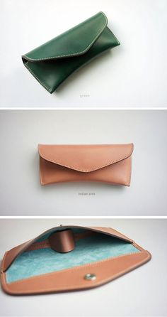 Handmade Leather Spectacle Case - Brand : dex+annery - 100% hand work - Material : Buttro leather (Italian Vegetable leather) - Serafil : No.20 (made in Germany) - Color : color table (Sold out: gray,yellow) + mist brown, black - Size : 18cm (W) x 8cm (L) x 4cm (D) - Process time : 8~10 business days .................................................................................................................. About buttero leather ⅰ. It is 100% French untanned skin so that ...
