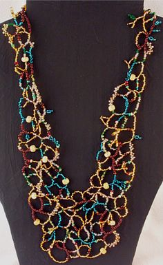 Mortira's free form right angle weave necklace.