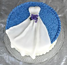 I like the blue Becky's bridal shower cake