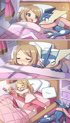 Sleepovers and Pokémon Don't Mix Well. Sadly i can see myself doing this to poor nin-nin