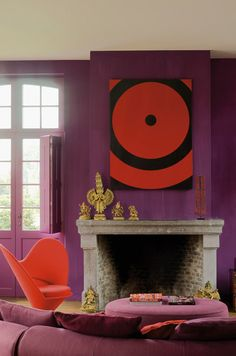 ROOMS WITH GREAT ART ;  styling by Marc Heldens