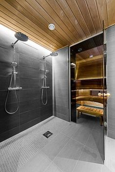 Do you want to create fabulous home sauna design ideas as your home design ideas? Creating a fabulous home sauna sounds great. In addition to making aesthetics in your home, a home sauna is very suitable for you to choose… Continue Reading → Home Spa Room, Spa Rooms, Shower Rooms, Sauna Steam Room, Sauna Room, Bathroom Spa, Modern Bathroom, Bathroom Ideas, Remodel Bathroom