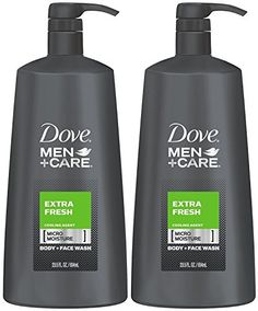 Pack of 2 Bottles, Each is Ounce Dermatologist Recommended Dove Men+Care Body and Face Wash leaves fresh, clean feeling MICROMOISTURE technology act Face Wash, Body Wash, Dove Men Care, Body Powder, Thing 1, Body Lotions, Body Spray, Bath And Body, Moisturizer