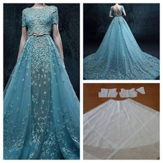 *this type dress for ceremony/pix with removable piece to reveal dance-able version underneath for reception party