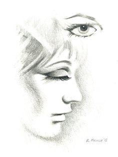 Eyes Open & Shut  Original Pencil Sketch by OILAutomotiveArt, £50.00