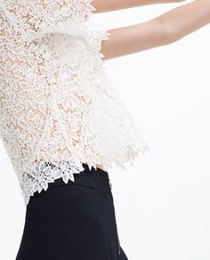 Image 3 of LACE TOP from Zara